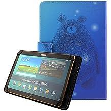 """Universal Funda Tablet 10.1"""", Carcasa de Cuero Protector Yuntab K107 10.1 pulgadas/ Artizlee ATL-21 Plus 10,1""""/Chuwi Hi10 10.1 pulgadas/iRULU eXpro 1Plus/X1s 10.1""""/Chuwi HiBook Pro 10,1 pulgadas/Teclast X10 Plus 10.1""""/Woxter SX 220 10.1""""/Excelvan K107 10""""/Tablet Alldaymall 10 pulgadas/Samsung/Lenovo/Asus/Alcatel de 10.1""""Tablet Case Cover Fundas de Pu Cuero-Oso"""