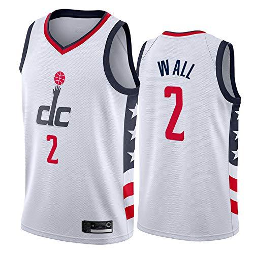 LSJ-ZZ Männer Basketball Kleidung NBA Washington Wizards # 2 John Wall Klassische New Jersey gestickte, Unisex Basketball-Fan ärmelAusbildung Sports Vest,XXL(190cm/95~110kg)