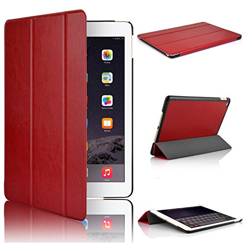 Swees Apple iPad Air 2Hülle–Ultra Slim Cover Case für Apple iPad Air 2[6. Generation 2014Release] mit magnetischer Wake & Sleep Funktion–Rot