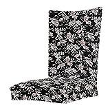Fenteer Polyester Spandex Stuhlhussen Stuhlüberzug Stuhlbezug für Stuhl - Schwarz-Weiss