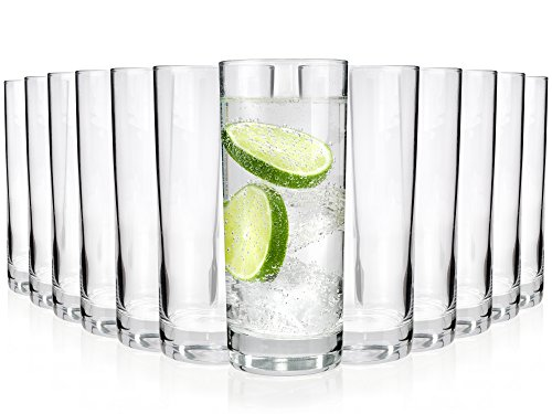 Gläser-Set Merlot 12 teilig | Füllmenge: 330 ml | Ein Glas für alle Getränke - der perfekte Allrounder | Gastronomiegeeignet