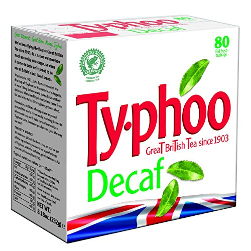 Typhoo 80 Decaf Tea Teabags (Pack of 12, Total 960 Teabags)