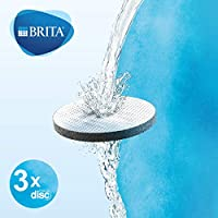 BRITA Microdisc Replacement Filters Compatible with BRITA Water Filter Bottles, Helps with The Reduction of Chlorine, Pack of 3