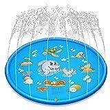 Neusky Wassermatte Wasser PadFlexible Spiel Matratze Spielzeug Wasserspielzeug für Kinder Baby und Hund im Sommer Garten (Delphin-N)