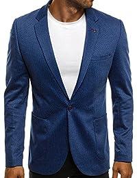 OZONEE Herren Sakko Business Anzug Kurzmantel OZN430