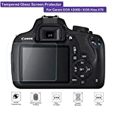 Canon EOS 1200D 1300D Screen Protector - Fiimi LCD Tempered Glass Screen Protector For Canon EOS 1200D / 1300D / EOS Kiss X70,9 H Hardness,0.3mm Thickness,Made From Real Glass (Tempered Glass)