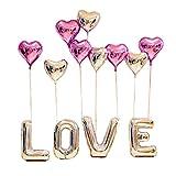 """our fantasy time Super Romantische""""Love""""und Herzchen Luftballon Set, Ideal als Deko zur Hochzeit, Zum Valentinstag Oder Zum Antrag, Aluminiumfolie Ballons, Folienballon, Helium Ballons, (SET07)"""