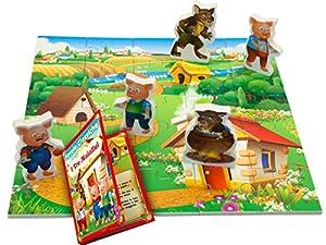 TEOREMA 40441-Geschichte I Tres Cerdos con Puzzle de Madera