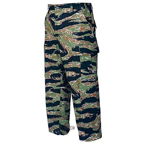 Tru-Spec BDU Trousers Cotton Tiger Stripe Green XS-Reg 1593002 Tru Spec Tiger Stripe