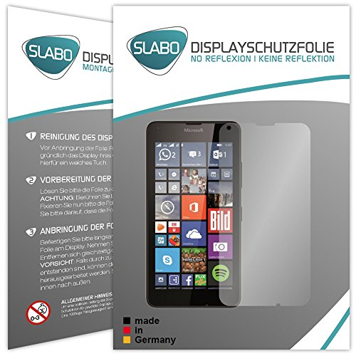 "4 x Slabo Displayschutzfolie Microsoft Lumia 640 / Lumia 640 Dual-SIM Displayschutz Schutzfolie Folie ""No Reflexion