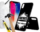 Samsung Galaxy A5 2016 FORTNITE PERSONALSED PRINTED DESIGN CASE, Choose Iniatals, Name, Any Word, Create Your Own, Unique Custom Cool Design Protective Hard back Slim Thin Fit PC Bumper Case with 9H Hardness Screen Protector Tempered Glass for r for Samsung Galaxy A5 2016 - FORTNITE PERSONALSED, Battle Royale Design 0002