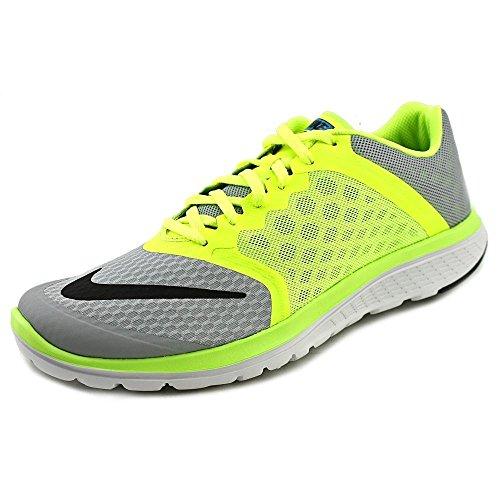 Nike Fs Lite Run 3, Chaussures de Running Compétition Homme, Taille Multicolore - Gris / Negro / Lima / Azul (Wolf Grey/Black-Volt-Bl Lagoon)