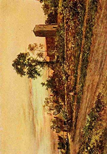 a4-photo-sherrin-daniel-1868-1940-in-unfamiliar-england-1910-sulgrave-church-village-print-poster