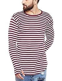 FUGAZEE Men's Stripped Thumbhole T-Shirt