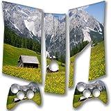 Berge, Designfolie Sticker Skin Aufkleber Schutzfolie mit Farbenfrohem Design für XBOX 360 Slim