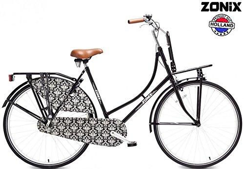 Zonix Damen Hollandrad City Light Schwarz 26 Zoll mit Frontträger