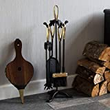 Fire Vida 5 Pieces Companion Sets Free Delivery (Black and Brass)