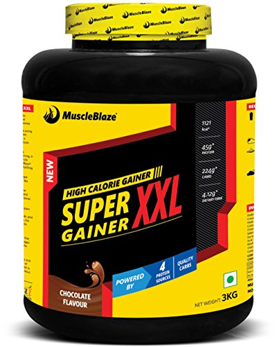 MuscleBlaze Super Gainer XXL Chocolate, 3 kg / 6.6 lb