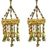 Handicraft Handmade Jhumar Traditional Door Hangings Golden Jhumar Home Decor Wall Ceiling Joomar - Diwali Decorative Item MADE IN INDIA