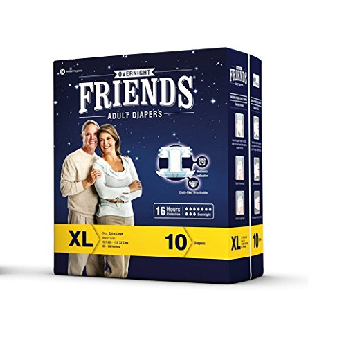 Friends Overnight Extra Large Wholesale pack (8)(Rs.58.725/Diaper)