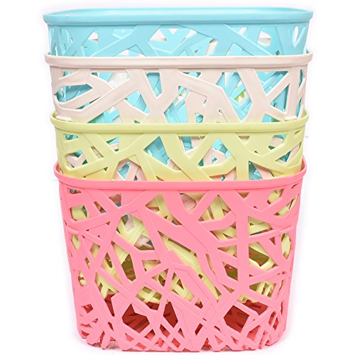 Oheligo Storage Box Fruit Basket Organizing Kitchen Rattan Baskets Plastic Storage Boxes Organising Bin Set of 4 Virgin boxes