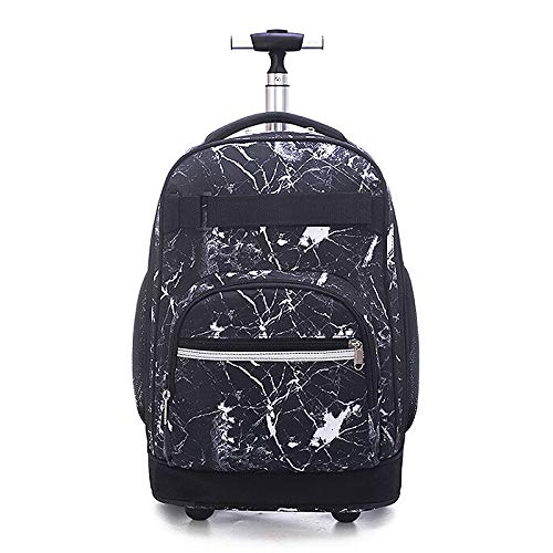 Trolley per la scuola, 45,7 cm, modello fantasy, zaino con ruote, ad alta capacità, unisex, per ragazzi e ragazze, studenti e scale Galaxy Constellation