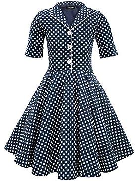 BlackButterfly Kinder 'Sabrina' Vintage Polka-Dots Kleid im 50er-Jahre-Stil