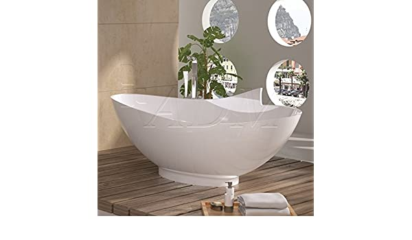 Vasca Da Bagno Troppo Lunga : Adm vasca da bagno bianco lucido in resina sw amazon fai