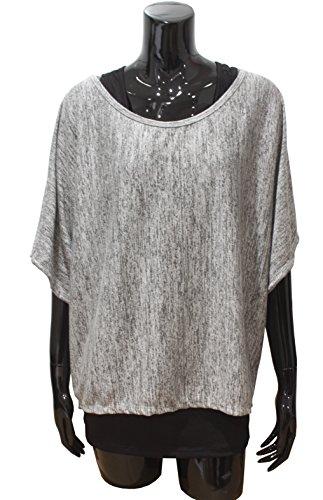 Emma & Giovanni - T-shirt Manche Courte (2 pièces) - Femme Gris