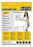 Bi-Office Blocco Per Lavagna di Carta A1, Bianca, 40 Fogli per Blocco, Lato Superiore Perforato, 55 g/mq, Conf. da 5