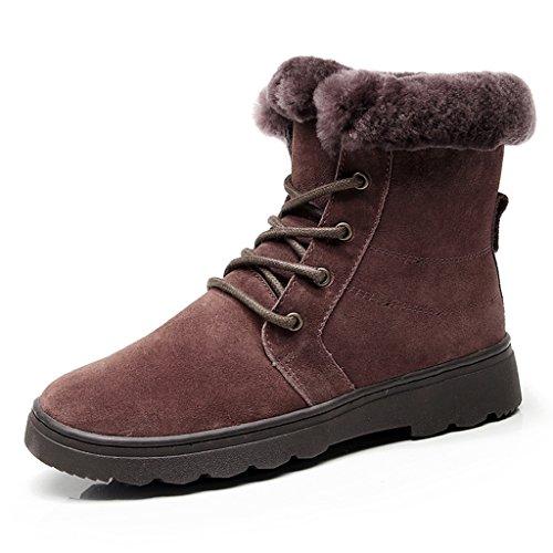 Bottes et boots Coton Chaussures Femme Hiver D'âge Moyen Neige Bottes Courtes Bottes Plat Non-slip Chaud Raquettes à neige