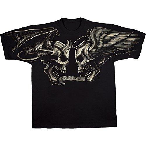 Herz Tie-dye-t-shirt (Liquid Blue Gut und Böse Männer T-Shirt Größen S - 6XL)