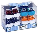 BRUBAKER - Chaussettes bébé - Lot de 4 Paires - Garçon 0-12 Mois - Coffret cadeau...