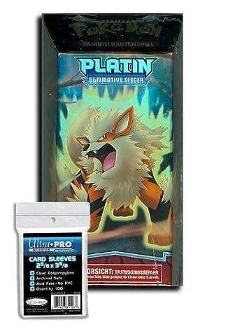 Pokemon Platin Themendeck Ultimative Sieger Schnellzünder + 100 Kartenschutzhüllen