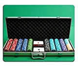 Luxlady Natural Rubber Gaming Mousepads suitcase for poker with chips and cards...