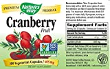 Nature's Way Cranberry Fruit, 500mg (100 Capsules)