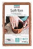 Glorex 6 8075 137 Soft Ton terracotta, 500 g, lufthärtend oder brennbar