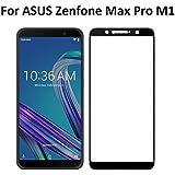 Tingtong Full Glue Full Coverage 5D No Rainbow Effect, No Dot Matrix Full Edge-to-Edge 5D Screen Protector for Asus Zenfone Max Pro M1 (Black)
