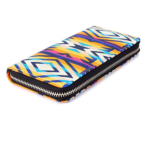 Ethno Portafogli 2017 Multicolore Tribal Purple Vintage Stripe