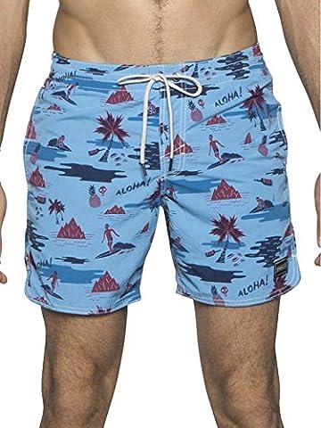 O'Neill Herren Badeshorts PM Thirst For Surf, Blue/White, L, 503222