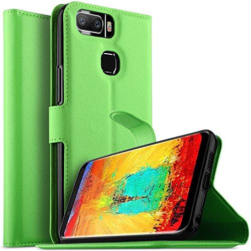 KuGi Leagoo S8 Pro Hülle, Leagoo S8 Pro Wallet Case, Brieftasche Case Hülle PU Kunstleder Flip Case mit Standfunktion Kartenfächer & Bargeld für Leagoo S8 Pro Smartphone.Grün