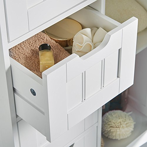 VonHaus 4 Drawer Storage Unit - White Colonial Style for the Bedroom or Bathroom Furniture Img 2 Zoom