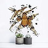 3D Tier Tiger Für Küche Zimmer Wandtattoos Für Kinderzimmer Schlafzimmer Wohnzimmer Dekorative Aufkleber Pvc Wandaufkleber