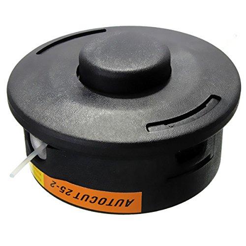 Recortador - SODIAL(R)Cabezas de avance de Bump de hilo de nilon de 25-2 de corte automatico para desbrozadora STIHL recortador Negro FS120 250