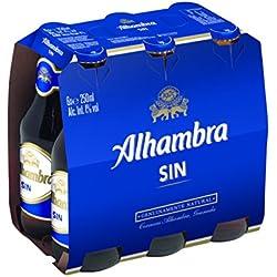 Cerveza Alhambra Sin Alcohol - Paquete de 6 x 250 ml