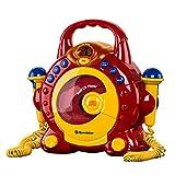 Roadstar KID-55CD Kinder CD-Spieler mit 2 Mikrofonen und Karaoke-Funktion (tragbar, Batterie-Betrieb, Kopfhörer-Anschluss, 10 Watt Musikleistung) - 3