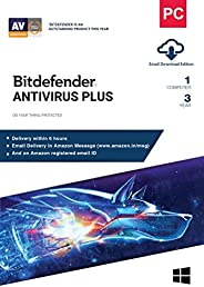 BitDefender Antivirus Plus Latest Version with Ransomware Protection (Windows) - 1 User, 3 Years (Email Delive