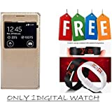 Flip Cover For Samsung Galaxy J5 Prime With Free Unisex LED Digital Watch - Super Value Combo Offer