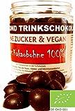Edelmond® Bio Premium Trinkschokolade / Heiße Schokolade - Kein Pulver! ✓ Ohne Zucker und Ohne Süßstoffe ✓ 100 % Edelkakao ✓ Vegan & Fairtrade ✓ Konzentrat für Trink- Zartbitter-Schokolade / Herrenschokolade - 225g