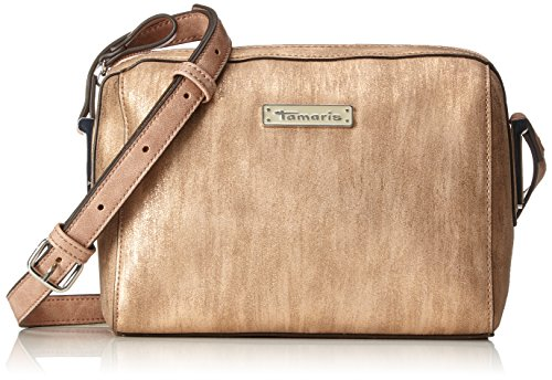 Tamaris Damen Nadine Crossbody Bag Umhängetasche, Gold (Copper Comb.), 9,5x16x21 cm (Designer Cross Body Bag)
